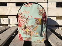 Мятный рюкзачок мини с цветочным принтом