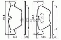 Колодка тормозная BMW 5 (E39) (производство Bosch ), код запчасти: 0986494007