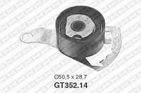 Натяжной ролик, ремень ГРМ Mazda 1E07-12-700B (производство NTN-SNR ), код запчасти: GT352.14