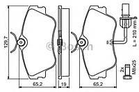 Колодка тормозная VW TRANSPORTER T4 BUS (производство Bosch ), код запчасти: 0986424672
