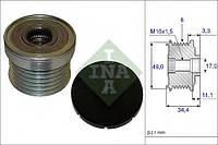 Шкив генератора с обгонной муфтой (Ina) (производство Ina ), код запчасти: 535018310