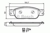 """Гальмівні колодки jaguar s-type """"f """"01-08 (производство Bosch ), код запчасти: 0986494355"""
