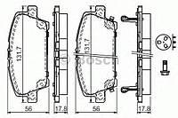 Тоpмозные колодки (производство Bosch ), код запчасти: 0986494136