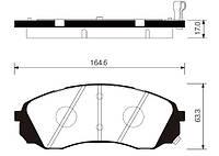 Колодка торм. kia h1 2.5crdi 16v 08.05-  kia carnival 2.7i 24v 06.06- передн. (производство Sangsin brake ), код запчасти: SP1238