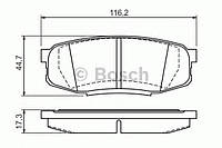 Гальмівні колодки дискові toyota land cruiser 200 (производство Bosch ), код запчасти: 0986494380