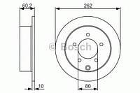 """Гальмівний диск mitsubishi lancer """"1.5-2 """"07 (производство Bosch ), код запчасти: 0986479A41"""