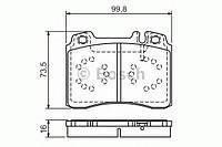 Гальмівні колодки дискові pr2 mb e 320t/coupe/cabrio/e 36amg -98 (производство Bosch ), код запчасти: 0986495057