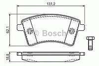Компл накл для пер диск торм (производство Bosch ), код запчасти: 0986494332