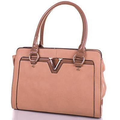 Женская бежевая сумка из качественного кожезаменителя ANNA&LI (АННА И ЛИ) TUP14008-12