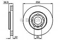 Диск тормозной Seat Ibiza V, Toledo передний вентилируемый (производство Bosch ), код запчасти: 0986478853