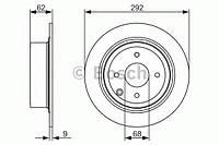 """Гальмівний диск nissan tiida """"r """"07-10 (производство Bosch ), код запчасти: 0986479742"""