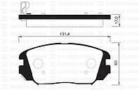 Колодка тормозная Hyundai GRANDEUR,Sonata 2.0CRDI,2.2CRDI 16V 06- передн. (производство Sangsin brake ), код запчасти: SP1182