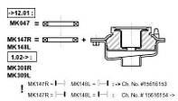 Подшипник опоры амортизатора (производство Monroe ), код запчасти: MK047