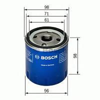 Масляний фільтр 7106 renault laguna, espace, safrane 2,2 1995 - 2001 (производство Bosch ), код запчасти: F026407106