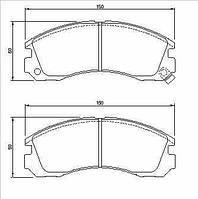 Колодка тормозная Mitsubishi ECLIPSE, Galant передн. (производство Bosch ), код запчасти: 0986424523