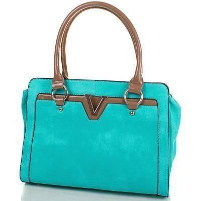 Интересная женская сумка из качественного кожезаменителя ANNA&LI (АННА И ЛИ) TUP14008-4 (зеленый)