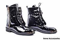 Ботинки женские лаковые Alsace (ботильоны стильные, байка с 35р)