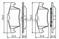 Колодка тормозная Ford,LAND ROVER,Mazda,Opel,Renault,SAAB,Volvo C-MAX,Focus (производство Bosch ), код запчасти: 0986494032