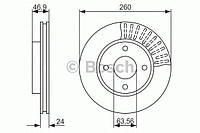 Тормозной диск передний (производство Bosch ), код запчасти: 0986479837