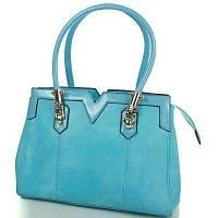 Бирюзовая женская сумка из качественного кожезаменителя ANNA&LI (АННА И ЛИ) TUP14109-5