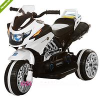 Электромобиль мотоцикл детский трехколесный Bambi BI318C-1, белый
