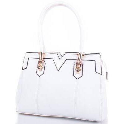Стильная женская сумка из качественного кожезаменителя ANNA&LI (АННА И ЛИ) TUP14109-11 (белый)