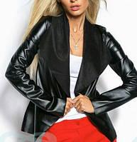 Куртка Кожзам выворотка цвет чёрный