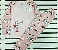 Пижама для девочки баечка  рост 110-116 Фламинго