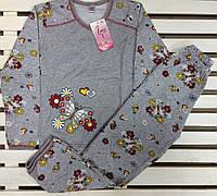 Теплая пижама для девочки баечка  рост 122-128 Фламинго