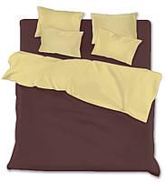 Евро комплект постельного белья marsala-beige