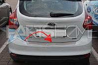 Накладка на задний бампер Ford Focus III с 2011 г.в.