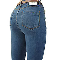 Джинсы женские узкие Американка, синие без потертостей