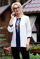 Женская нарядная свободная блузка с узором