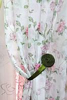 Тюль (занавес, гардина)розы  на шифоне