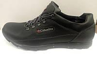 Кроссовки-туфли мужские Columbia кожа черные C0010