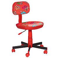 Кресло детское Киндер Зайцы красный пластик красный (АМФ-ТМ)