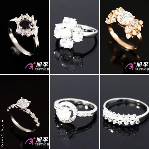 Новые родированные и позолоченные кольца!