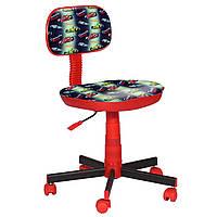 Кресло детское Киндер Машинки пластик красный (АМФ-ТМ)
