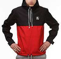 Мужская куртка анорак Ястребь classic красно-черный