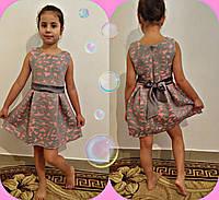 Супер качество!!! Красивое серое платье ткань неопрен роз.