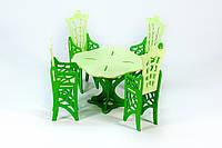 """Набор цветной мебели для кукол стол+4 стула серия """"Монстер Хай"""""""