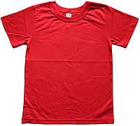 Футболка красная детская, рост 122 см, 128 см, Фламинго
