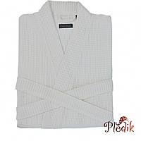 Элитный халат вафельный от Casual Avenue Long Island белый L/XL