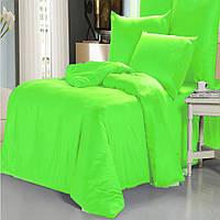 Семейный комплект постельного белья green-orange