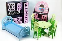 """Комплект цветной деревянной мебели для кукол, серия """"Монстер Хай"""""""