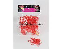 Резинки для браслетов Loom Band LB006 (красные), плетение с резиночками, набор для плетения браслетов