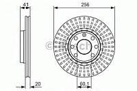 Гальмівний диск opel astra, corsa, tigra, vectra f (производство Bosch ), код запчасти: 0986479876