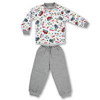 Пижама детская с начесом для мальчика ПаМаЯ Машинки