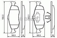 Торм колодки дисковые (производство Bosch ), код запчасти: 0986460969