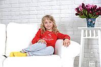 """Детская трикотажная пижама для девочки """"Hello Kitty"""" красная"""
